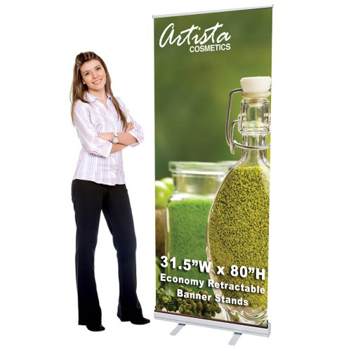 31.5 x 80 Retractable Banner Stand & Graphic Print